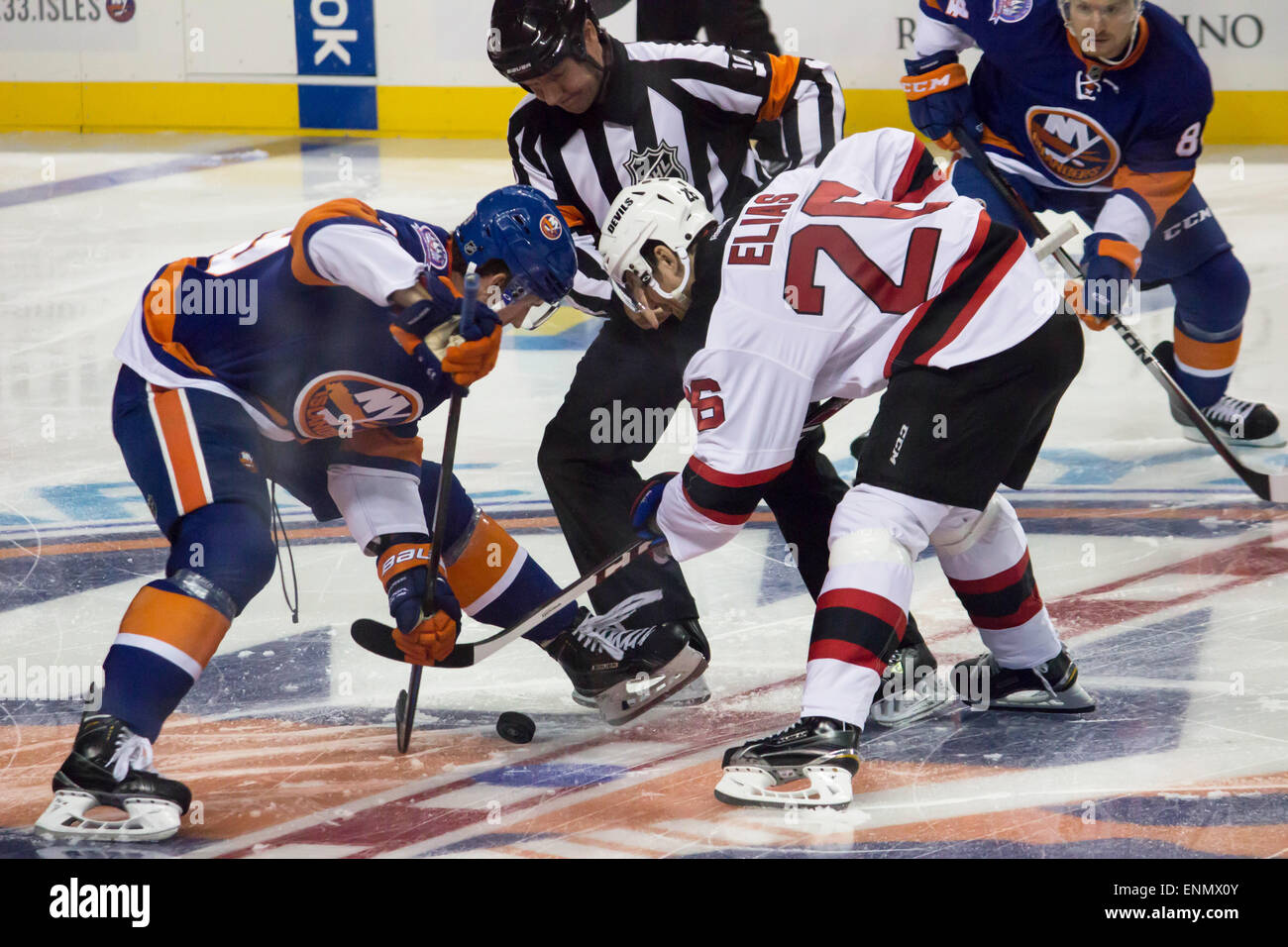 New York Islanders vs. the New Jersey Devils at the Barclay's Center Brooklyn New York September 2014 - Stock Image