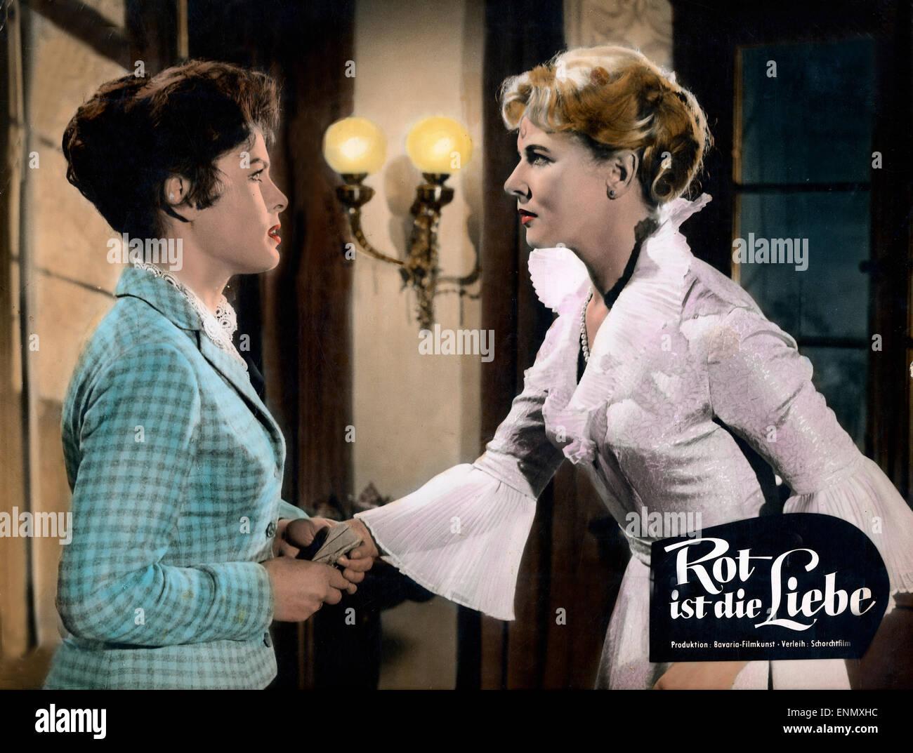 Rot ist die Liebe, Deutschland 1957, Regie: Karl Hartl, Darsteller: Cornell Borchers, Barbara Rütting - Stock Image