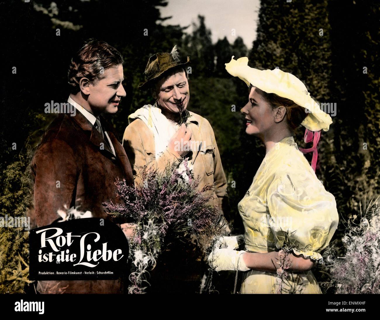 Rot ist die Liebe, Deutschland 1957, Regie: Karl Hartl, Darsteller: Cornell Borchers, Dieter Borsche, Günther - Stock Image