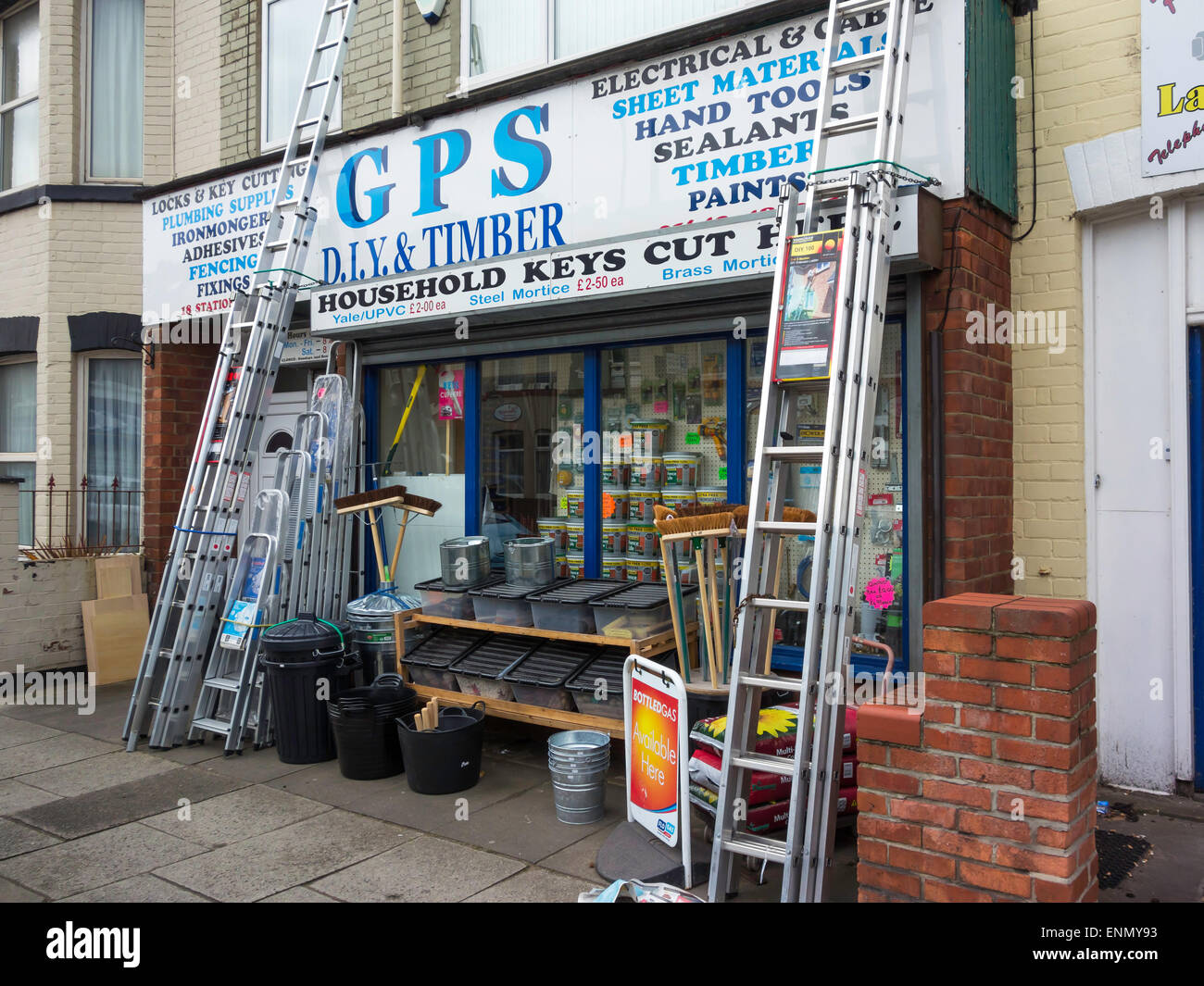 A do it yourself diy shop small business in town stock photo a do it yourself diy shop small business in town solutioingenieria Gallery