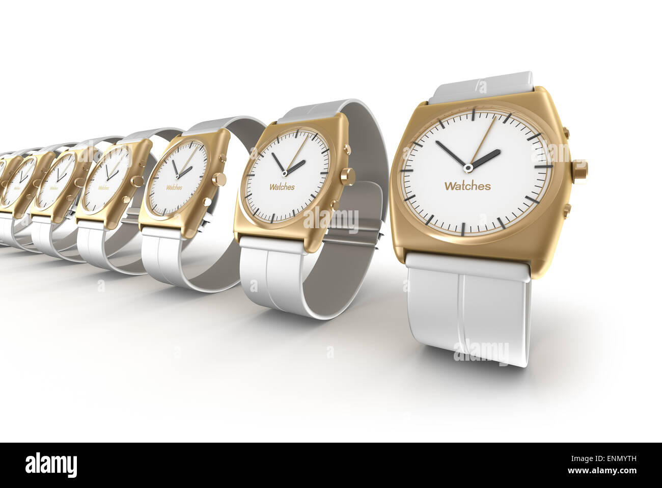 Watches over white - Stock Image