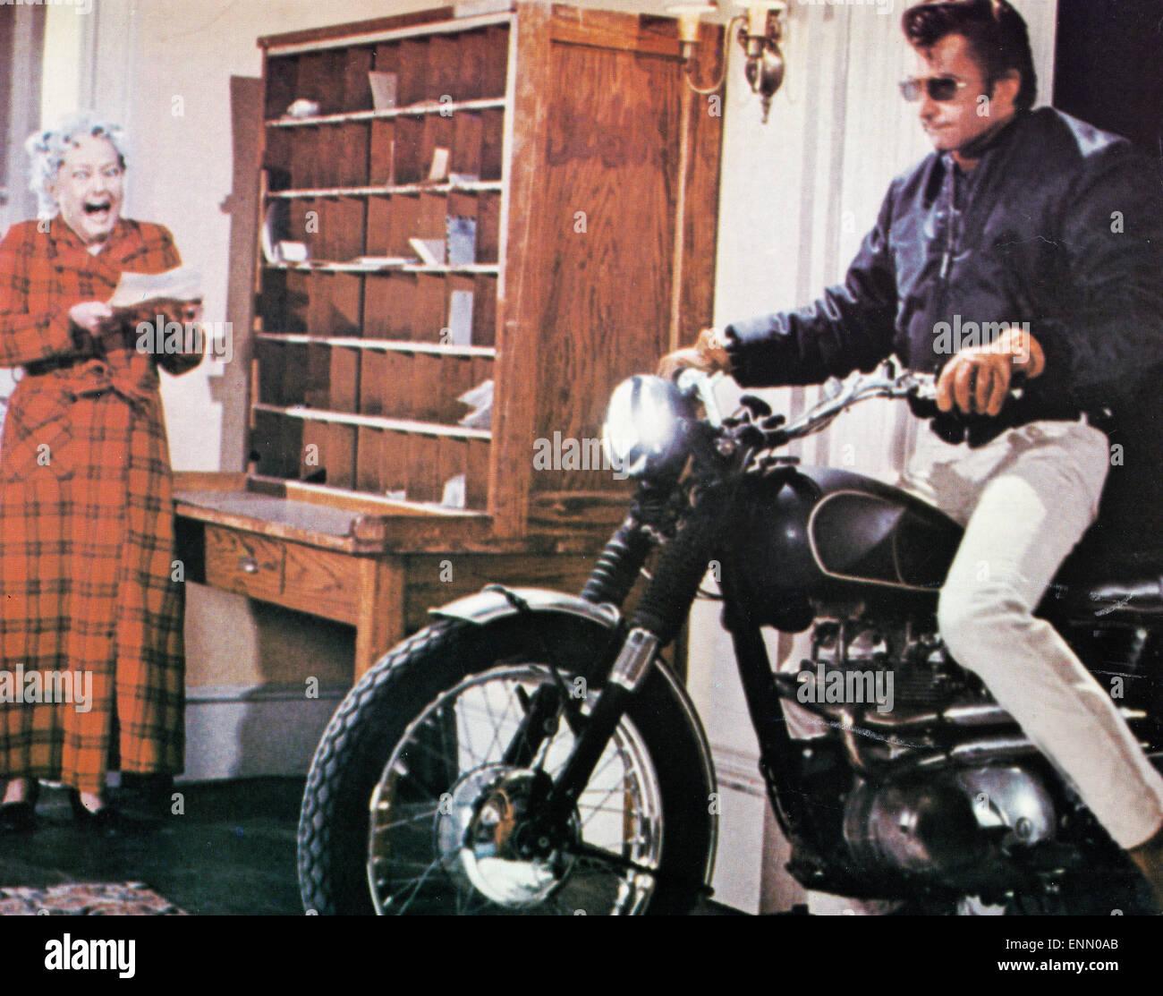 Evel Knievel, USA 1971, Regie: Marvin J. Chomsky, Darsteller: George Hamilton, Sylvia Hayes - Stock Image