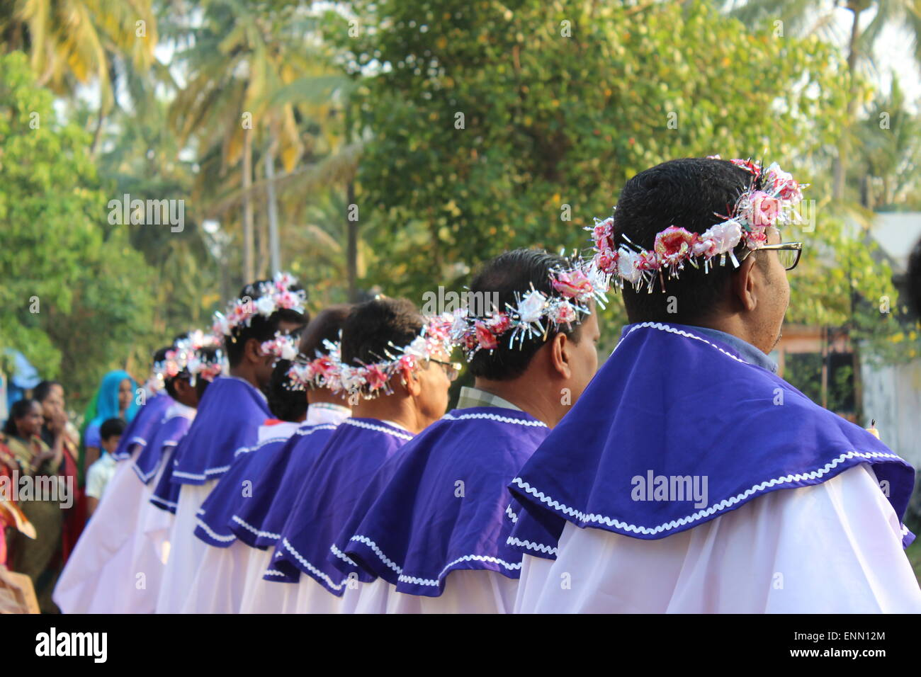 Festival at a Roman Catholic church on Vypeen Island - Stock Image