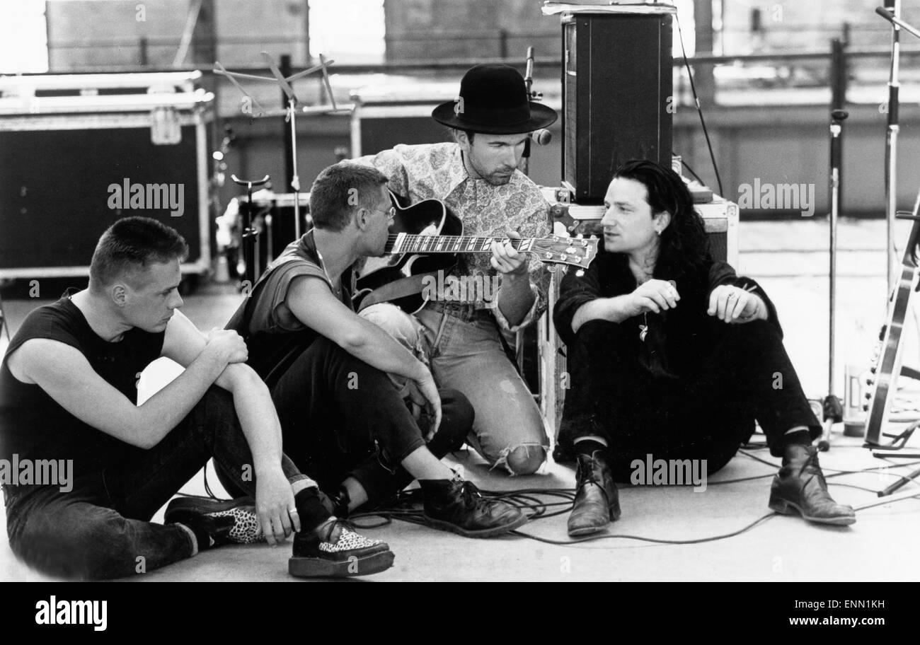 U2 Rattle and Hum, USA 1988, Regie: Phil Joanou, Darsteller: Band U2, (Bono Vox / Paul David Hewson /, The Edge - Stock Image