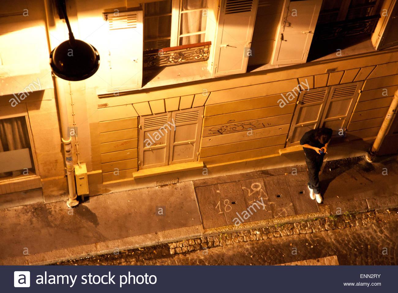 Paris, Nacht am Montmartre - Stock Image