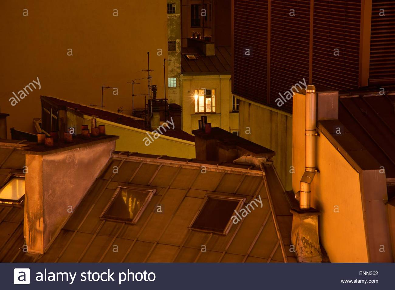 Paris, Nacht, Night in Paris - Stock Image