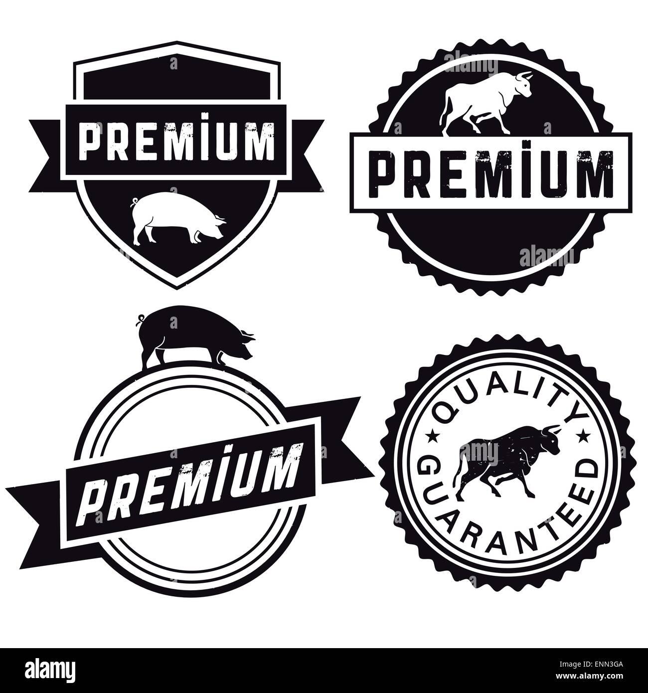 Premium Fleisch Stock Vector