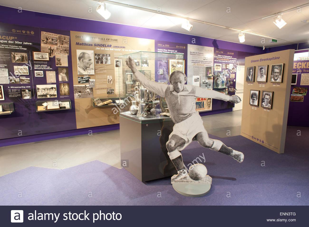 Wien, Fussball, Austria-Museum im Horr-Stadion, Andenken an das Wunderteam von Hugo Meisl - Stock Image