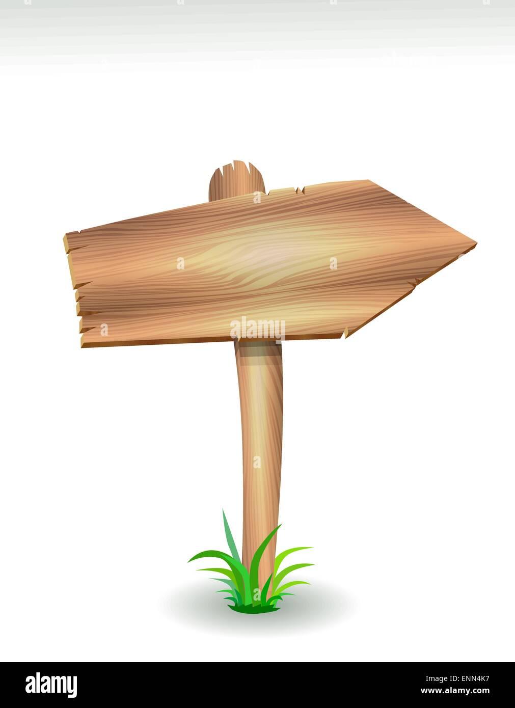 Wood arrow - Stock Vector