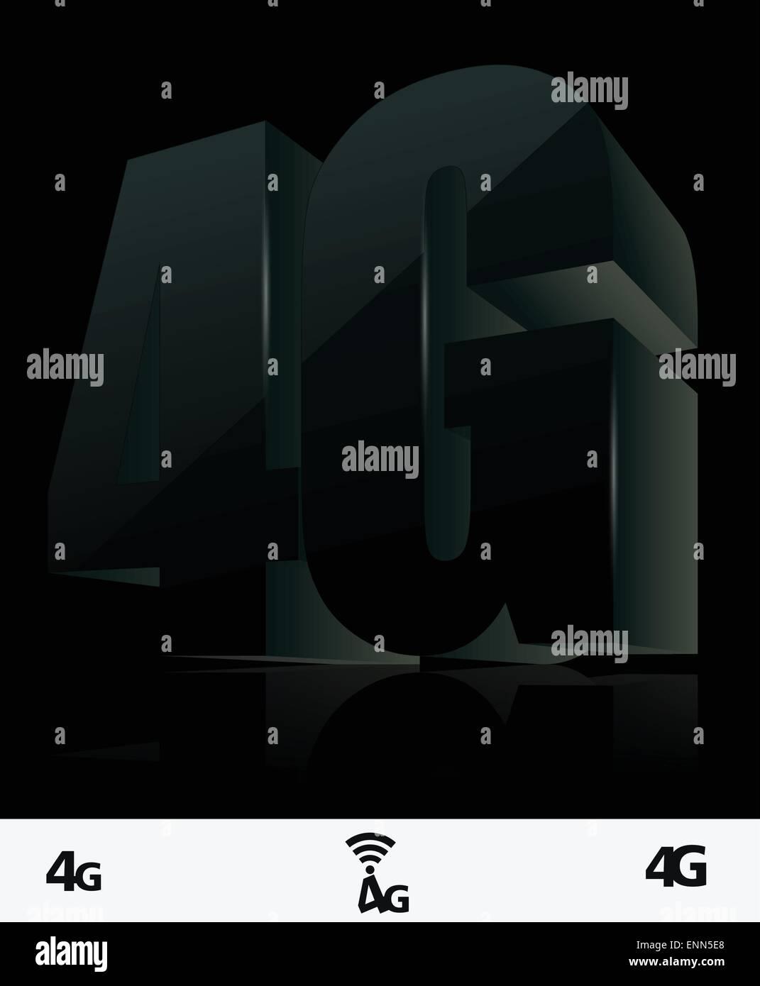 4G icon - Stock Vector