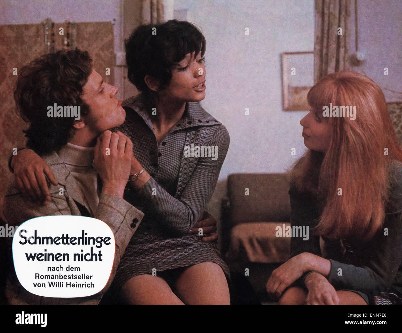 Schmetterlinge weinen nicht, Deutschland 1970, Regie: Klaus Überall, Darsteller: Klaus Grünberg, Lyvia - Stock Image