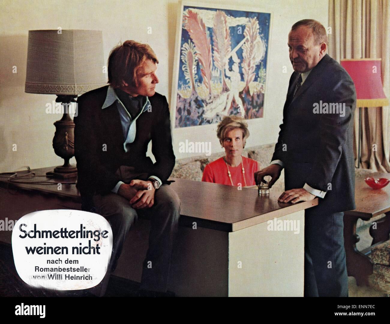 Schmetterlinge weinen nicht, Deutschland 1970, Regie: Klaus Überall, Darsteller: Siegfried Wischnewski, Elmar - Stock Image