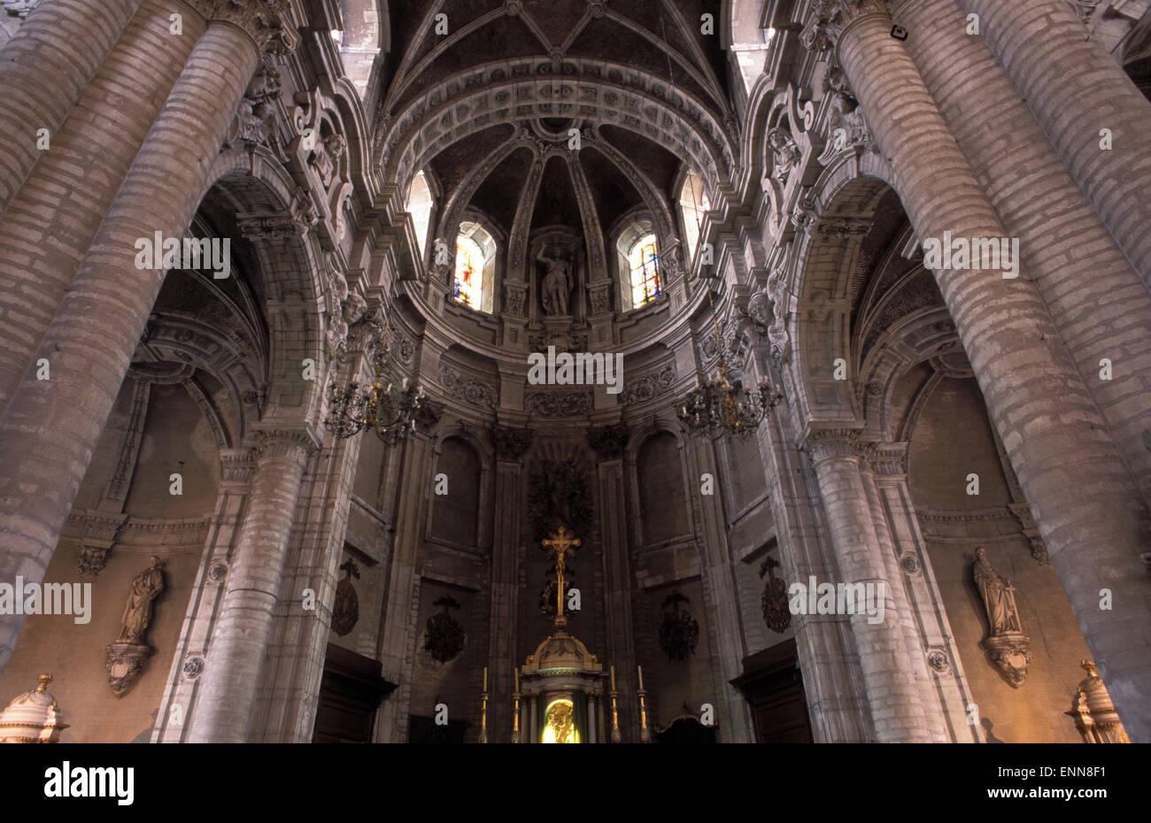 BEL, Belgium, Brussels, St.-Jean-Baptiste-du-Beguinage church.  BEL, Belgien, Bruessel, Kirche St.-Jean-Baptiste - Stock Image