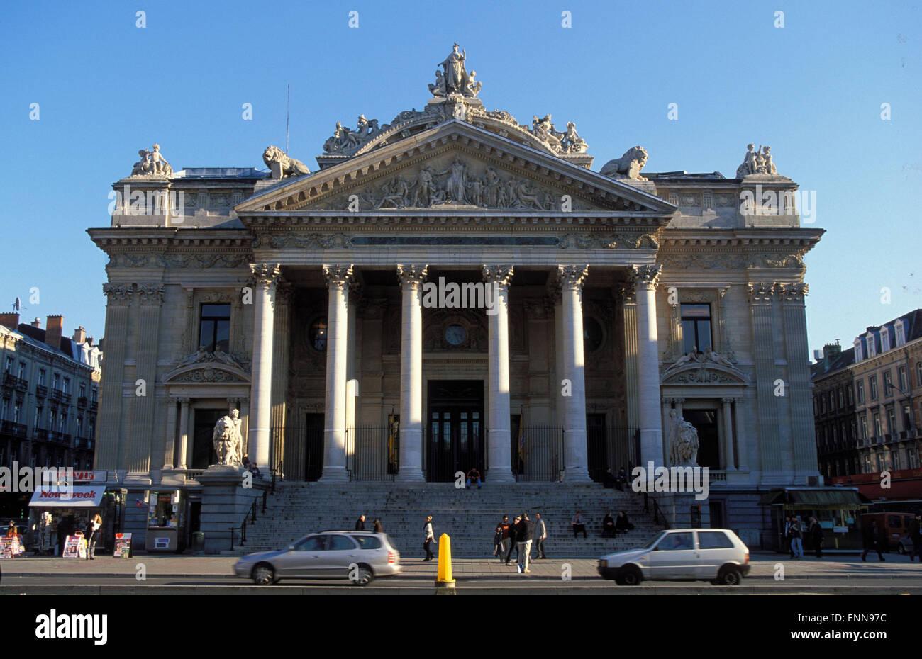 BEL, Belgium, Brussels, the stock exchange.  BEL, Belgien, Bruessel, die Boerse. - Stock Image