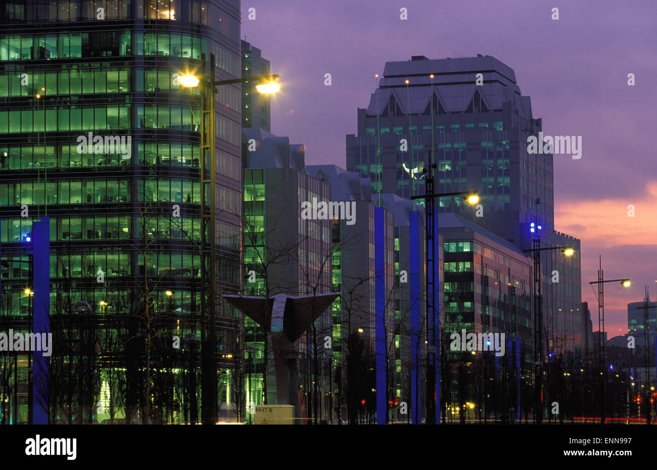 BEL, Belgium, Brussels, companies- and government- buildings at the Boulevard du Roi Albert II.  BEL, Belgien, Bruessel, - Stock Image