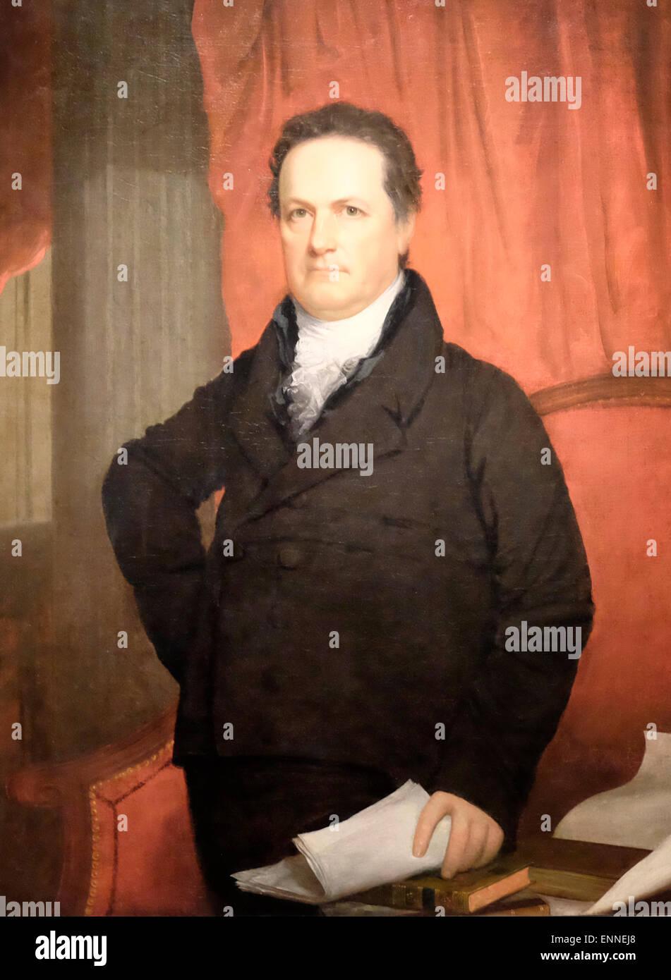 DeWitt Clinton  circa 1816 - Stock Image