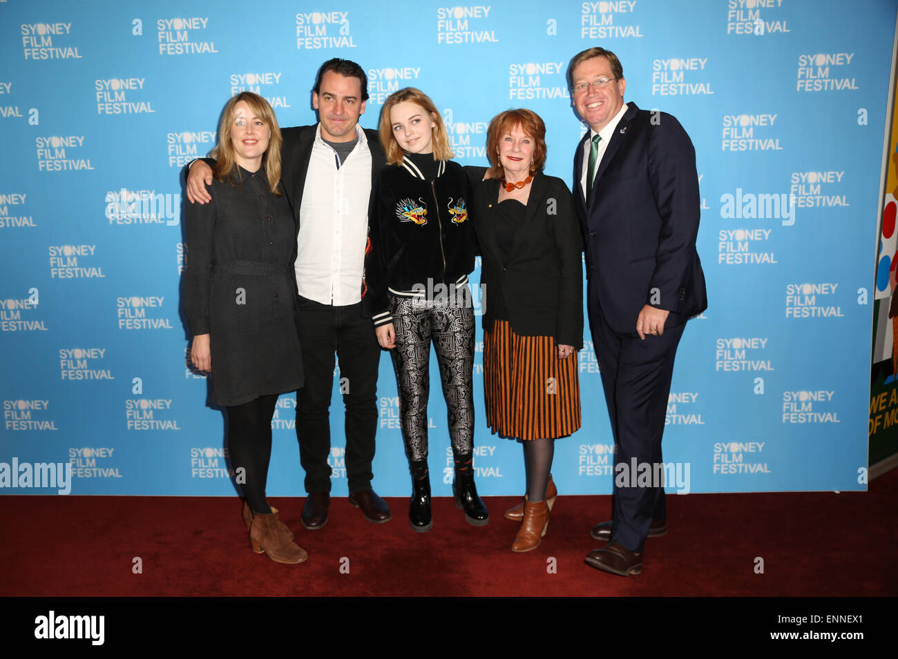 6 May 2015. L-R from the film 'The Daughter', Nicole O'Donohue, Ewen Leslie, Odessa Young, Jan Chapman - Stock Image