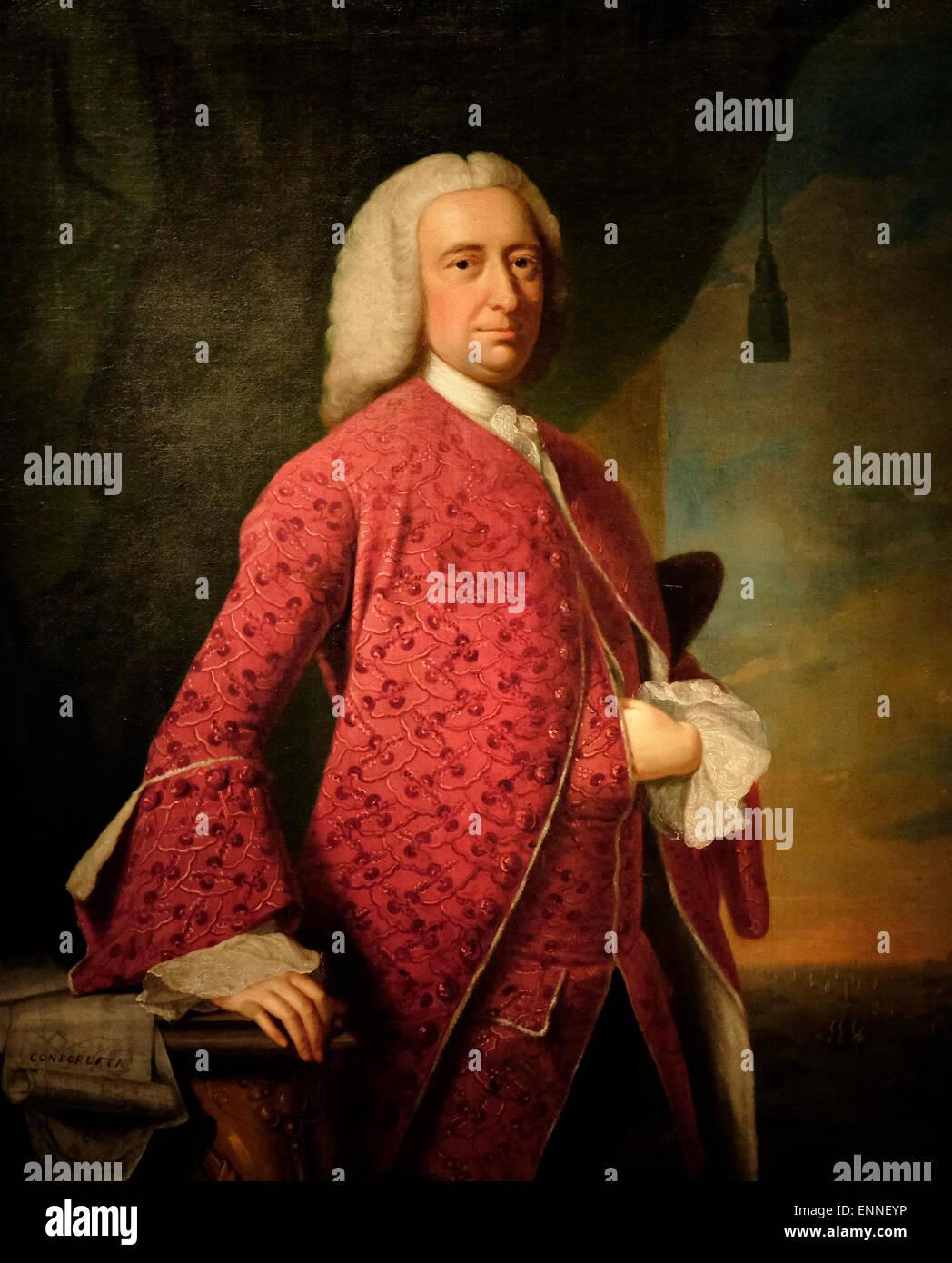 William Shirley  1750   Thomas Hudson - Stock Image