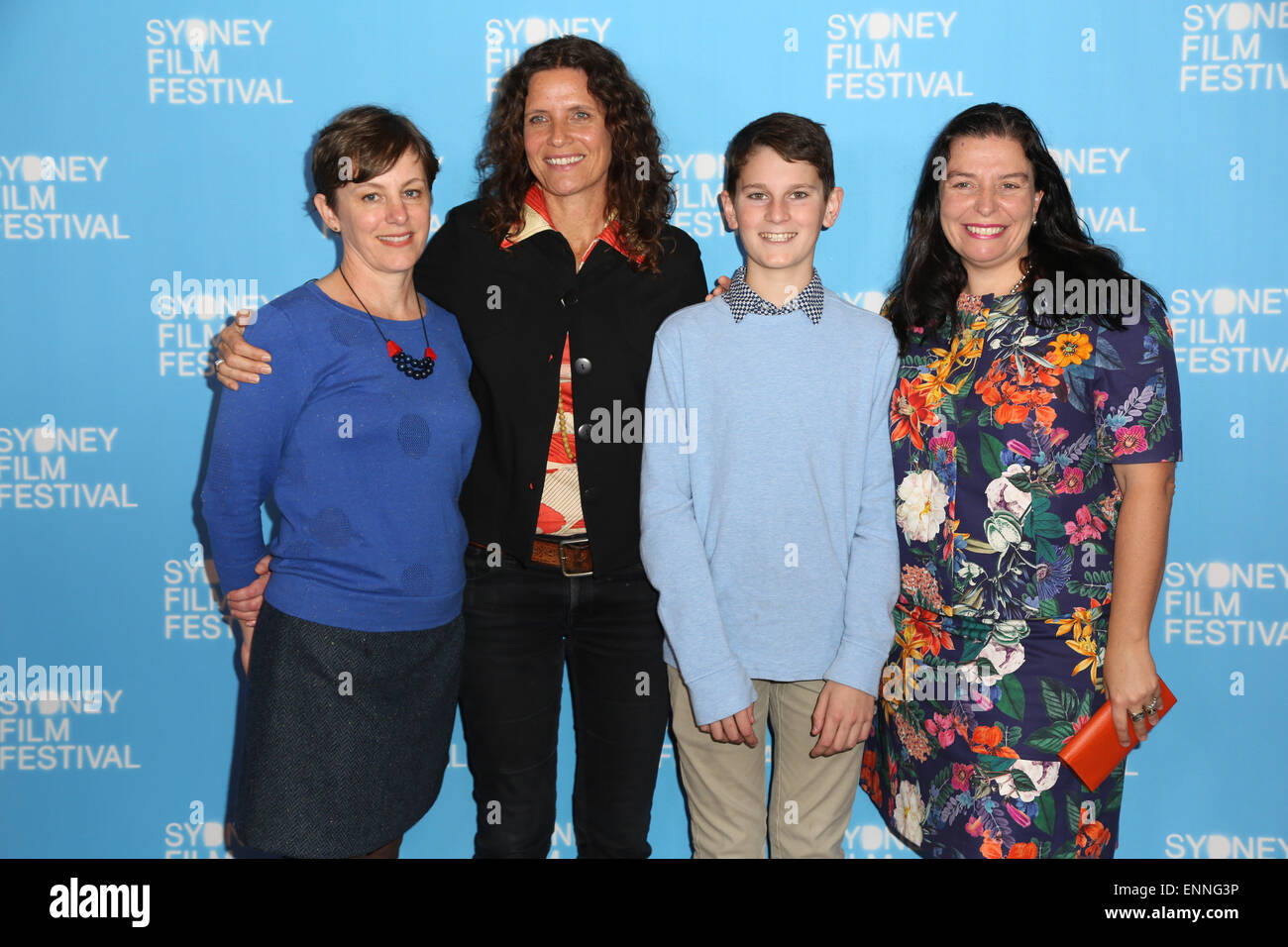 Sydney, Australia. 6 May 2015. Launch of the 62nd Sydney Film Festival, pictured: 'Wide Open Sky' cast and - Stock Image