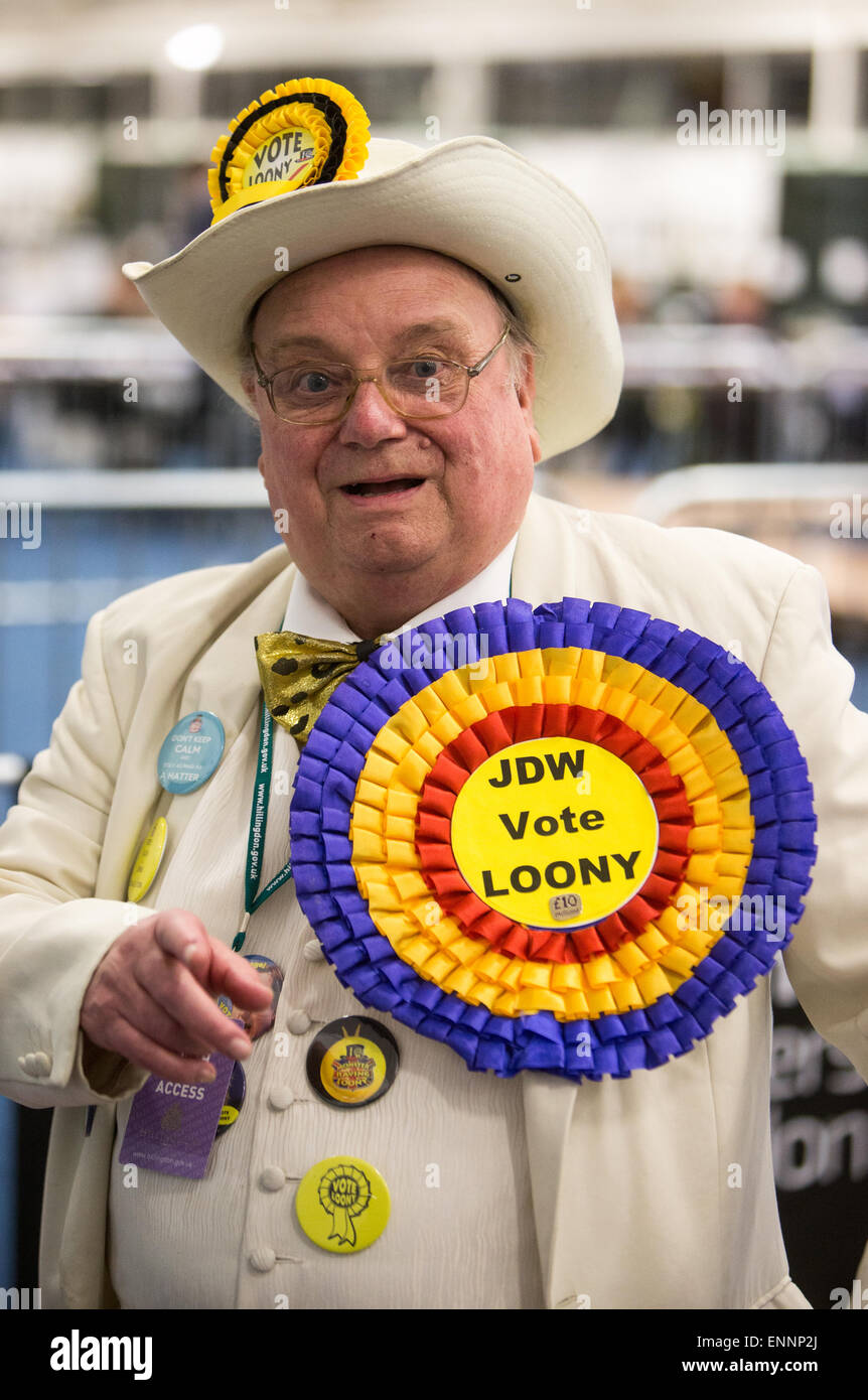 Howling 'Laud' Hope standing in the election against Boris Johnson in Uxbridge for  the Official Monster - Stock Image