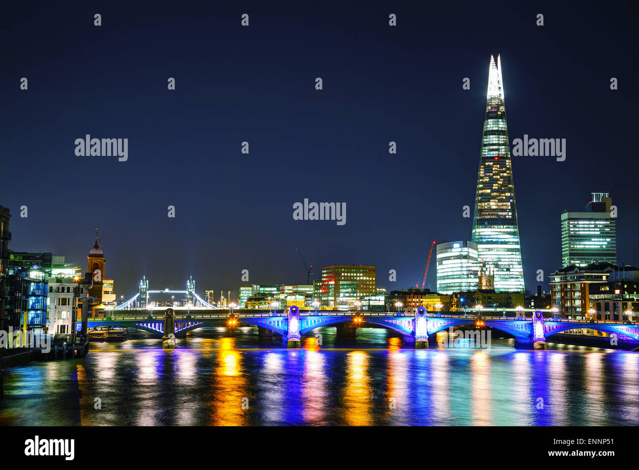 LONDON - APRIL 4: Overview of London with the Shard of Glass on April 4, 2015 in London, UK. - Stock Image