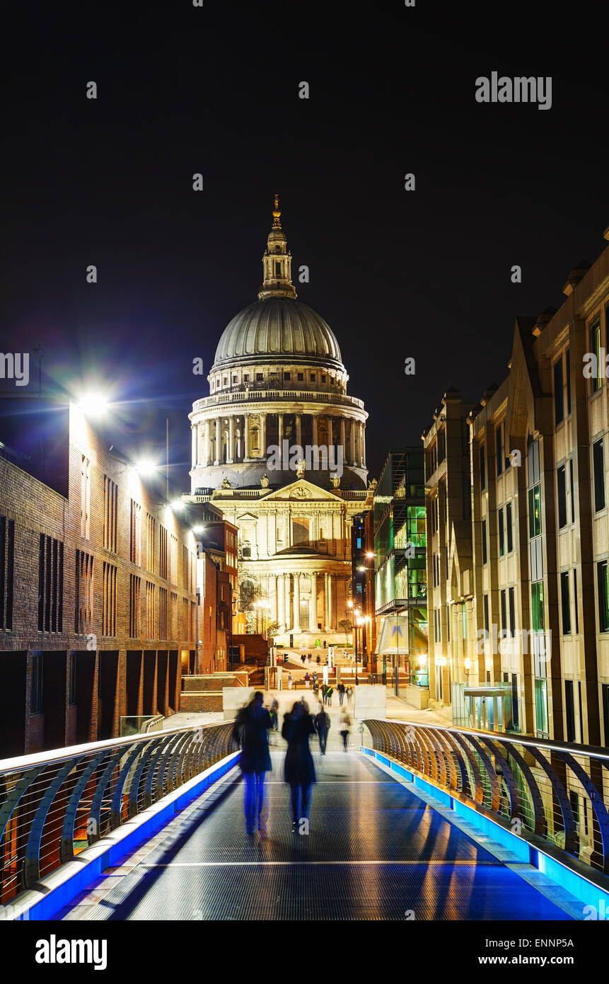 Saint Pauls cathedral in London, United Kingdom in the evening Stock Photo