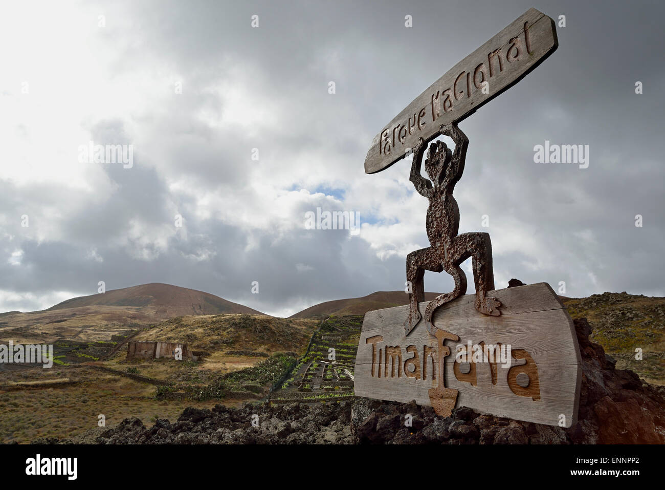 Canary Islands Lanzarote The Devil Symbol Of The Volcanic Island