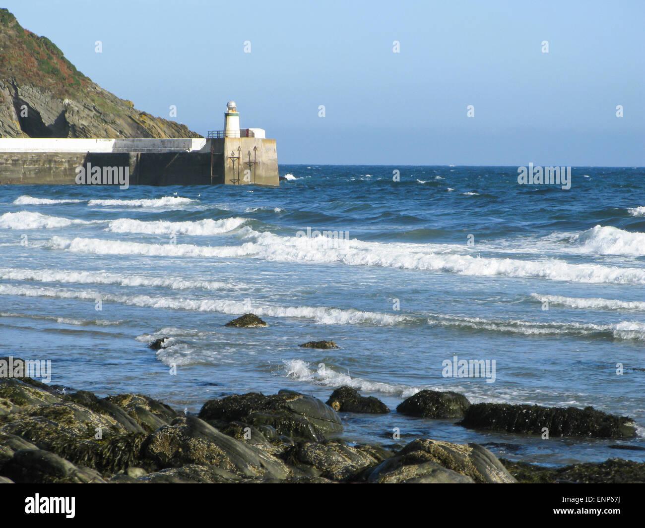 Laxey lighthouse Isle of Man Stock Photo