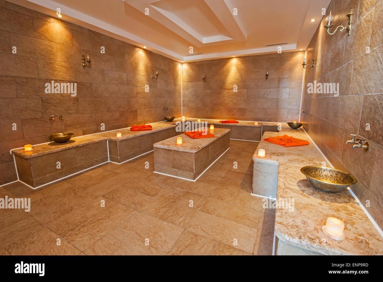 Interior Design Of Turkish Baths In Luxury Health Spa