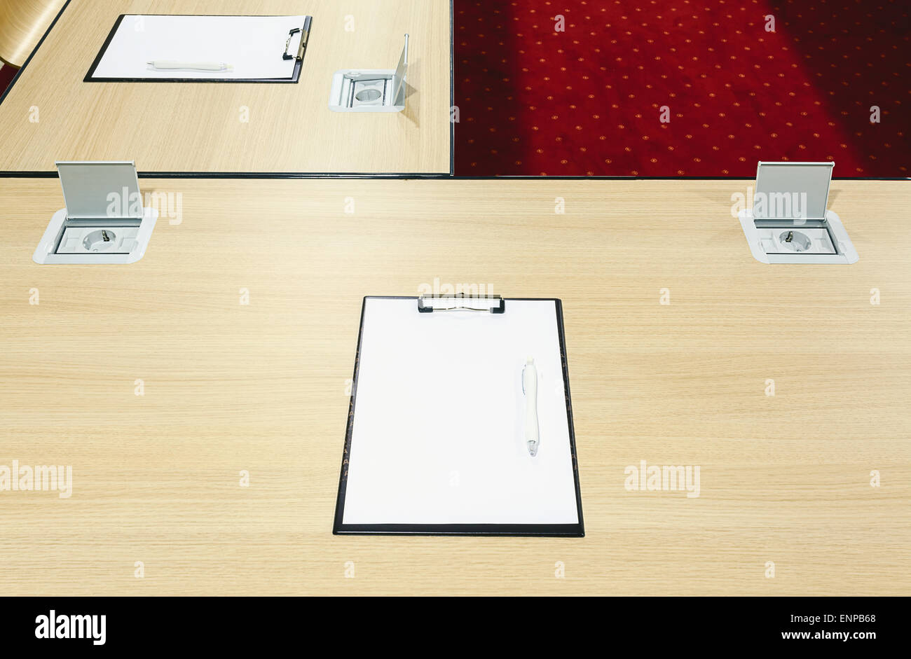 Details Of A Furniture In A Modern Conference Room Power Supply - Conference table power supply