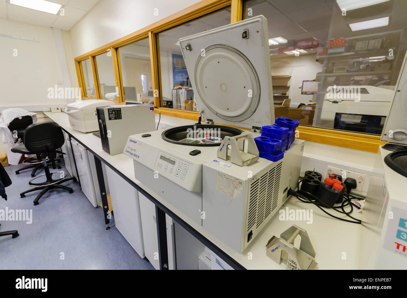 Laboratory centrifuge in a cancer research lab Stock Photo