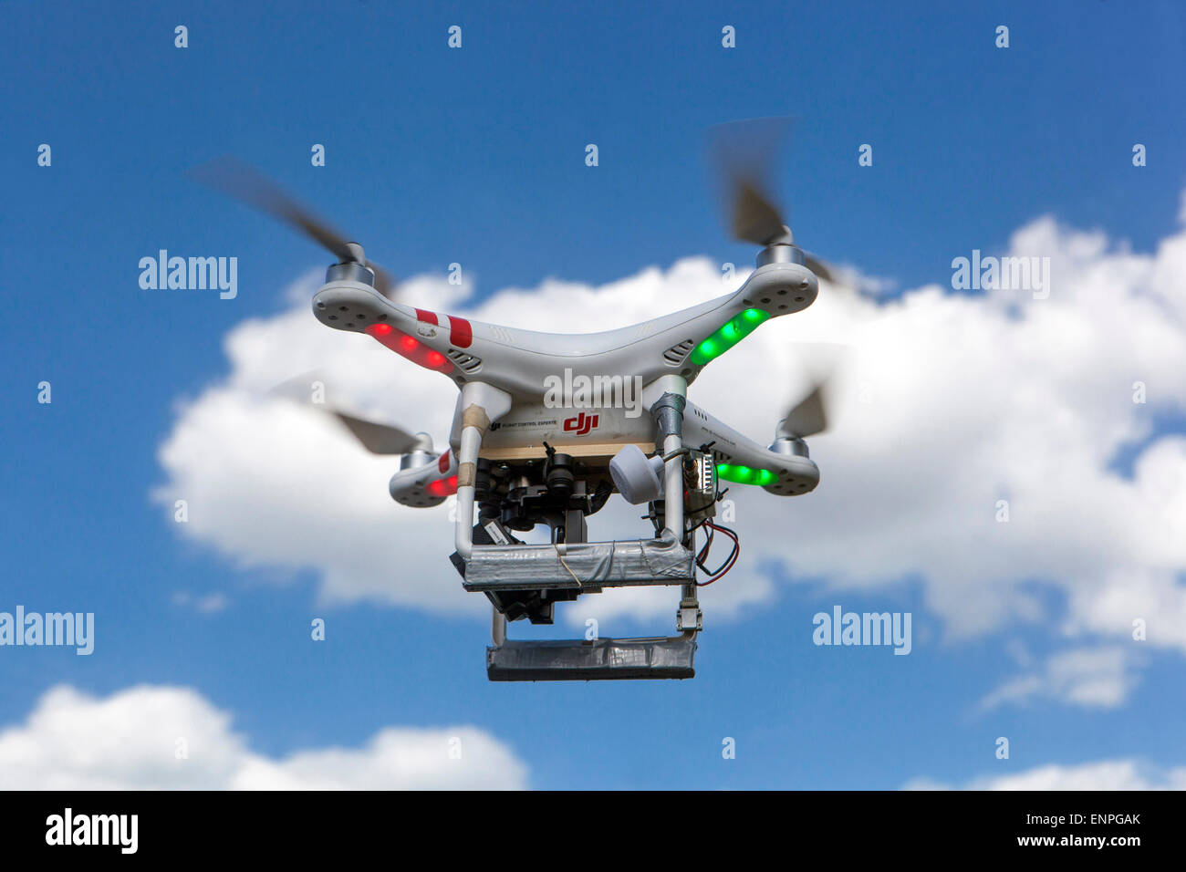 Drone on sky Prague Czech Republic Europe - Stock Image