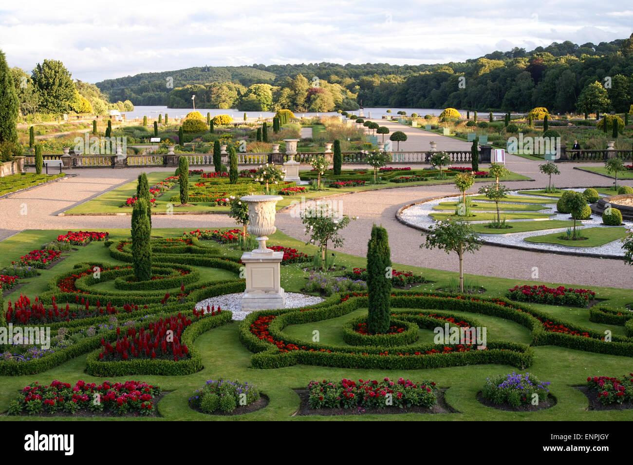 Trentham Gardens, Trentham Estate, Stoke-on-Trent, Staffordshire, UK - Stock Image