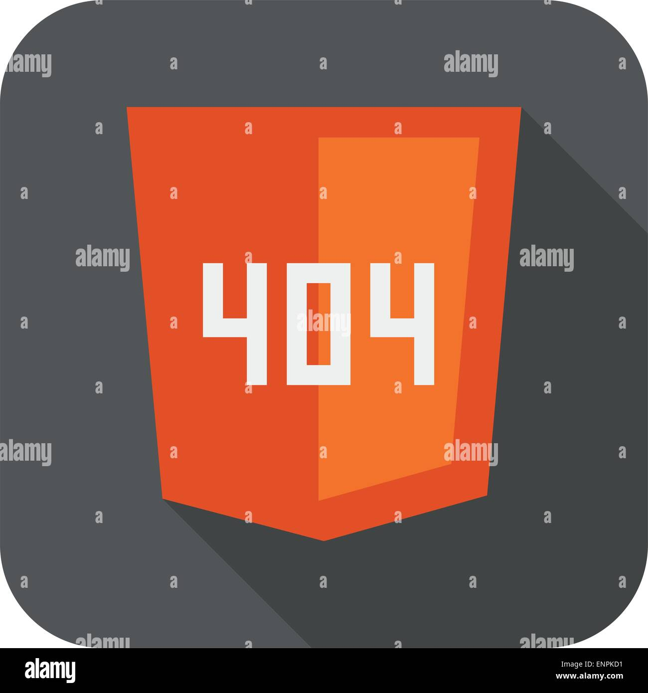 vector collection of web development shield sign with 404 error not found isolated icon - Stock Image