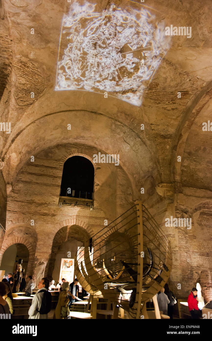 Medieval building remains in the National Museum of the Middle Ages. - Stock Image