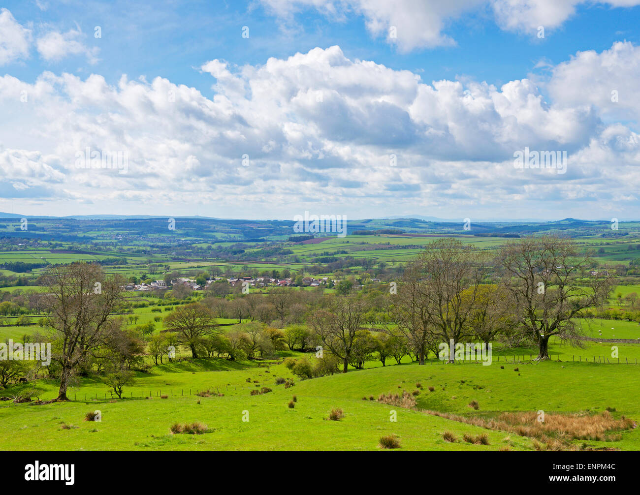 View across Melmerby and the Eden Valley, Cumbria, England UK - Stock Image