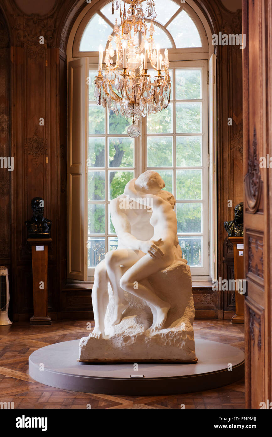 """The Kiss"" in the Rodin museum. Stock Photo"