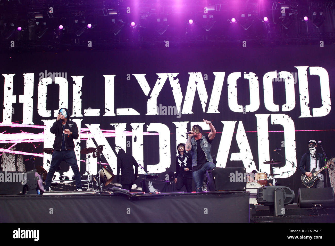 Las Vegas, Nevada, USA. 9th May, 2015. Rap rock band Hollywood Undead performs on the main stage on day 2 of Rock Stock Photo