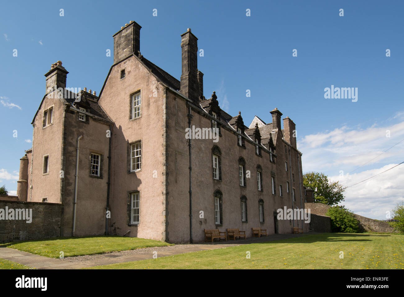 rear of Argyll's Lodging - Scotland's most complete example of a 17th century townhouse - Stock Image