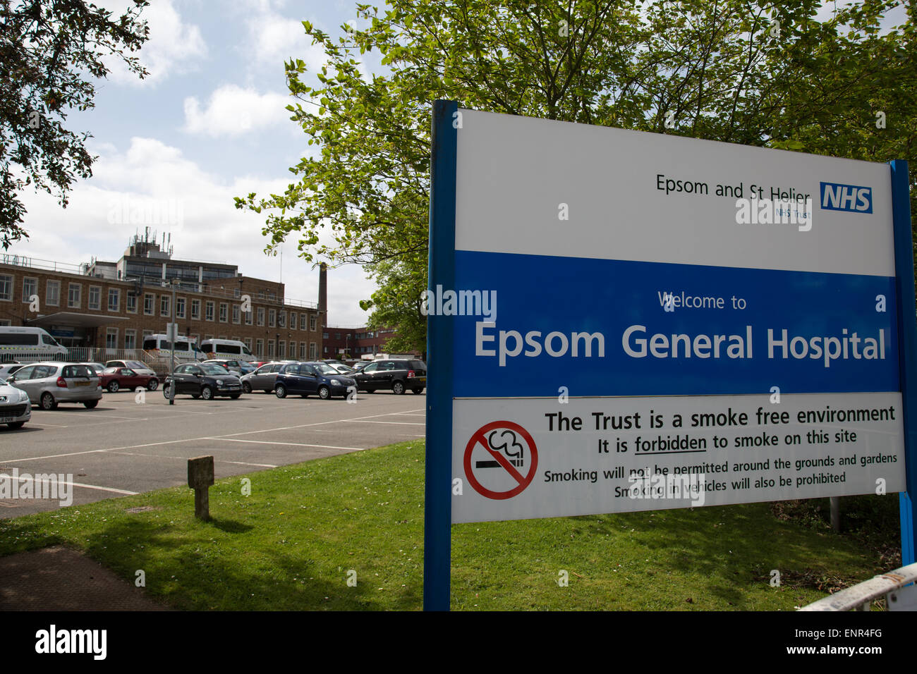 Epsom General Hospital - Stock Image