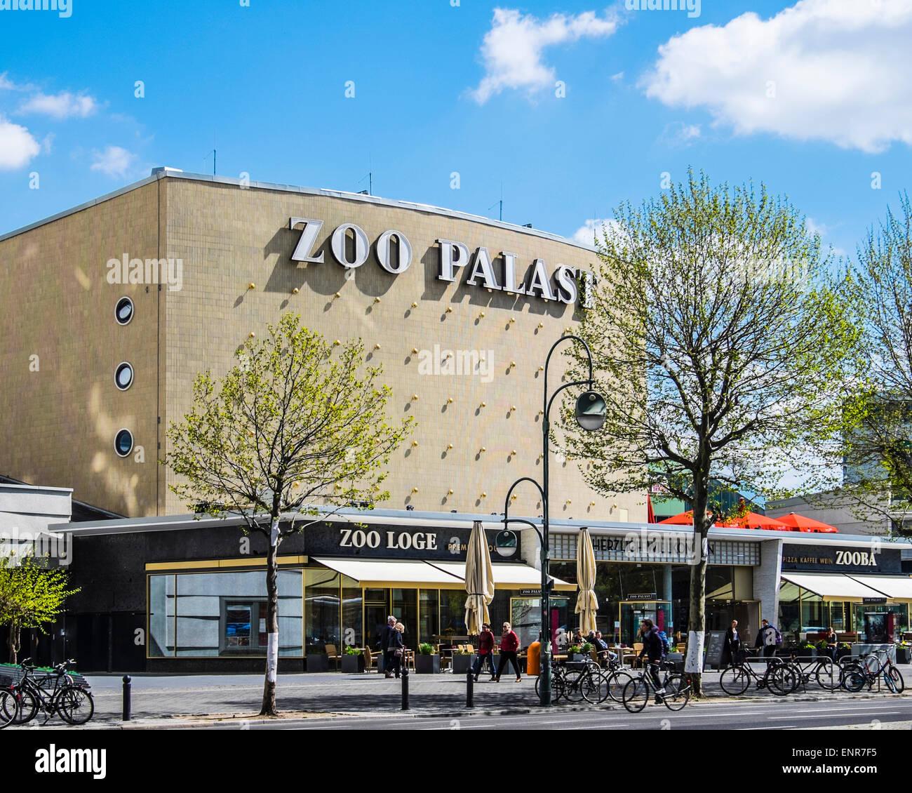 Berlin Zoo Palast exterior , cinema refurbished theatre retains elegant 1950s style in Hardenbergstrasse - Stock Image