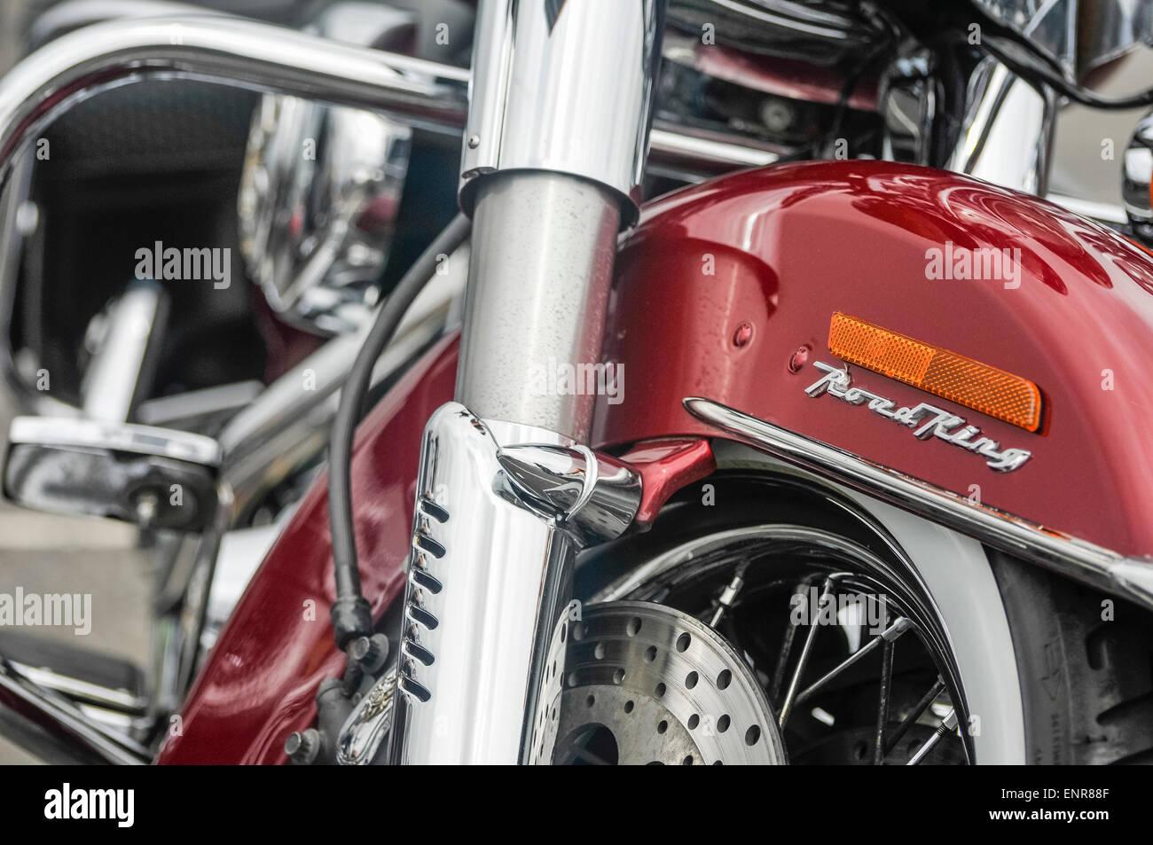 Harley Davidson Road King motorcycle - Stock Image