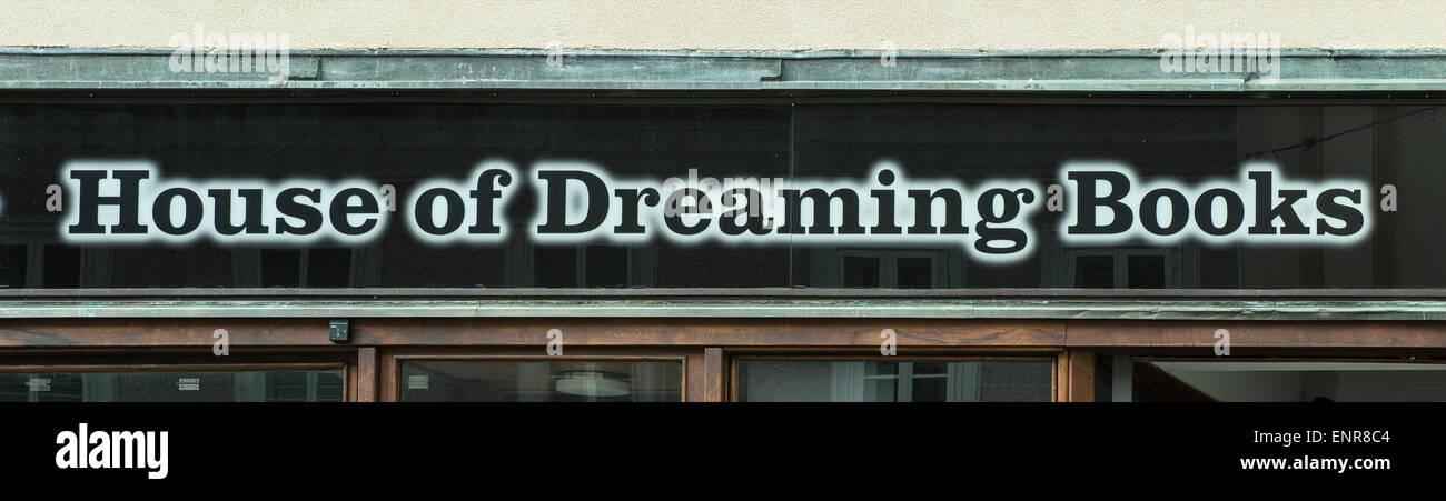 bookshop sign - Stock Image