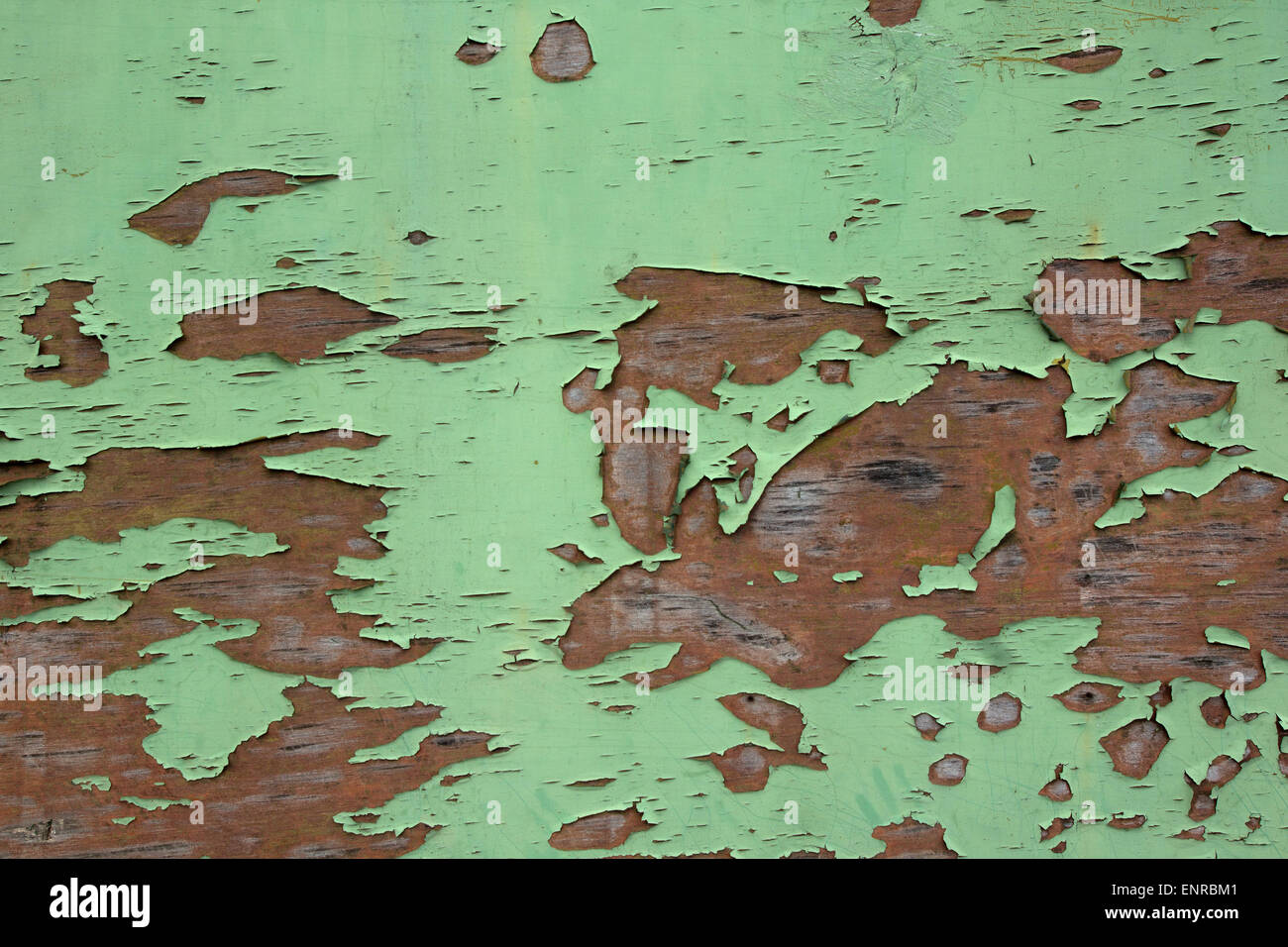 Old cracked green paint texture - Stock Image