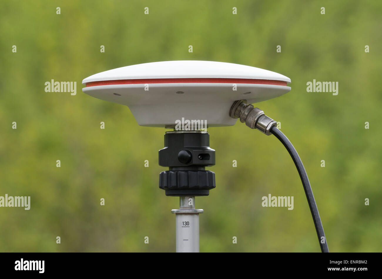 Static geodetic measurement with GPS - Stock Image