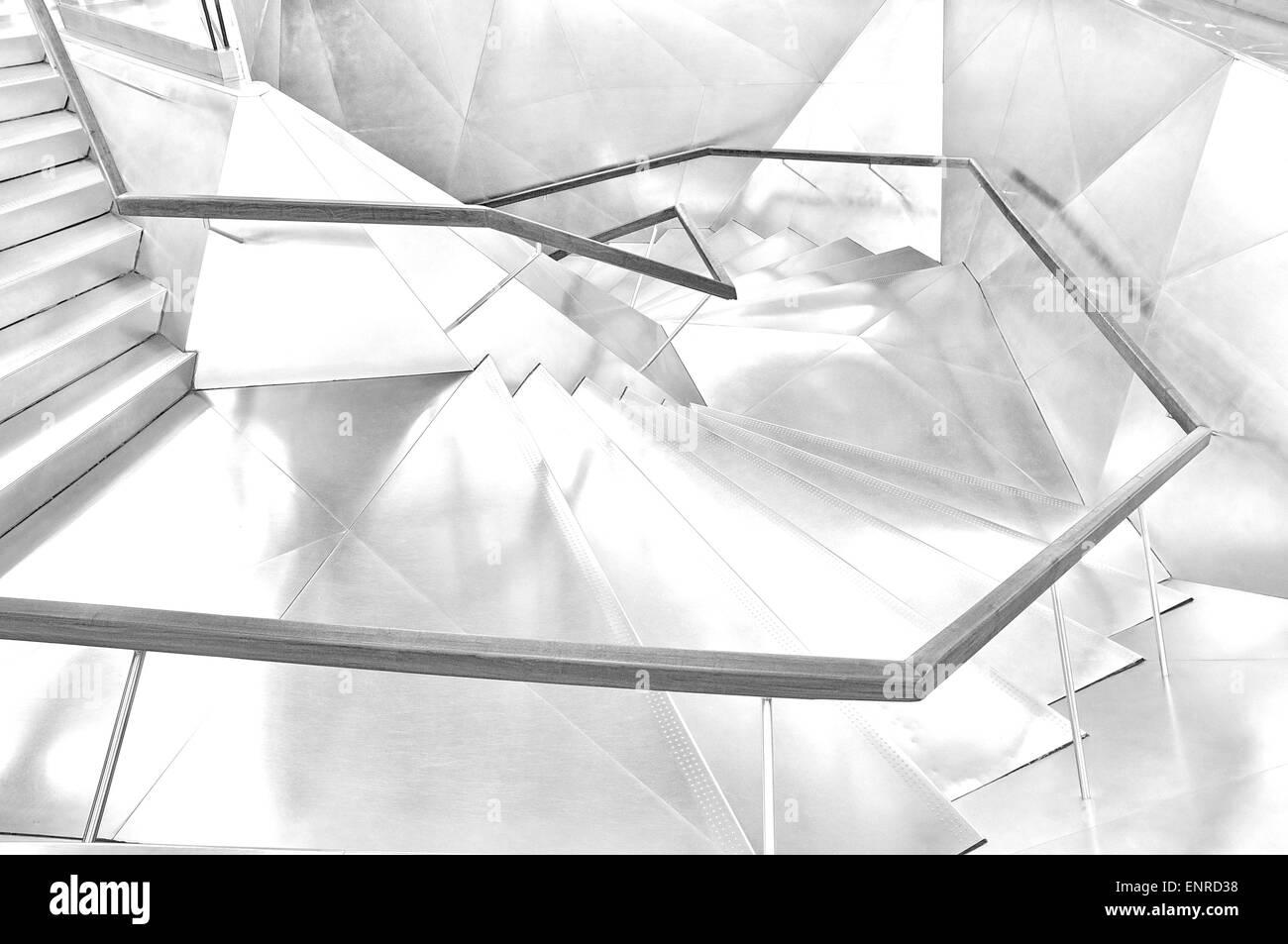 Triangle shape stairways - Stock Image