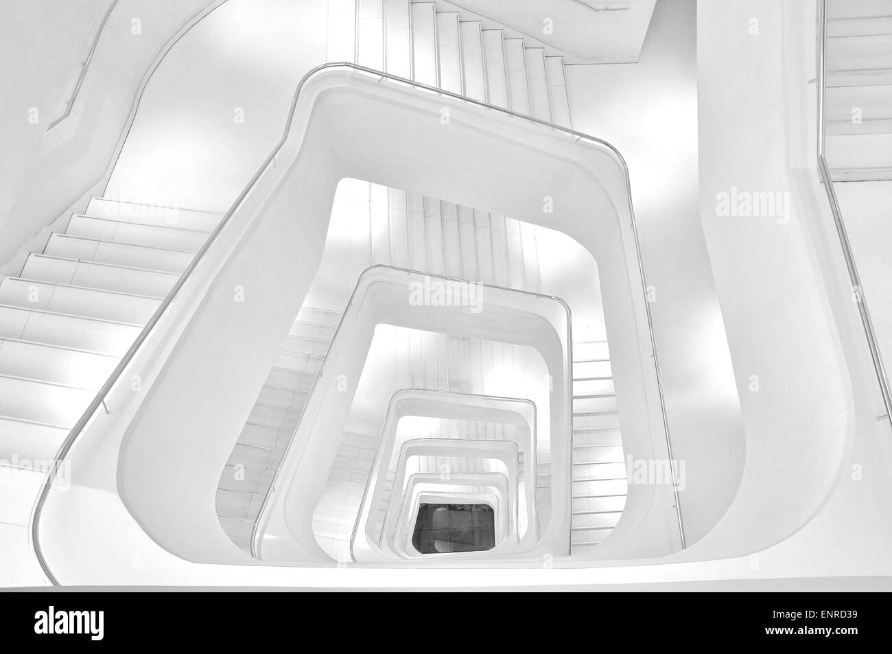 Stairways in black and white - Stock Image