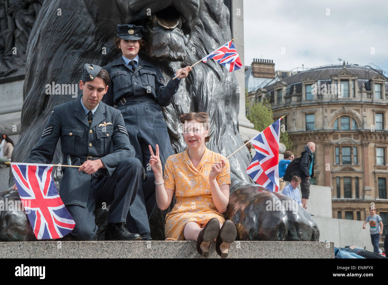 London, UK. 10th May, 2015. Re-enactors mark the 70th anniversary of VE Day Credit:  Zefrog/Alamy Live News Stock Photo