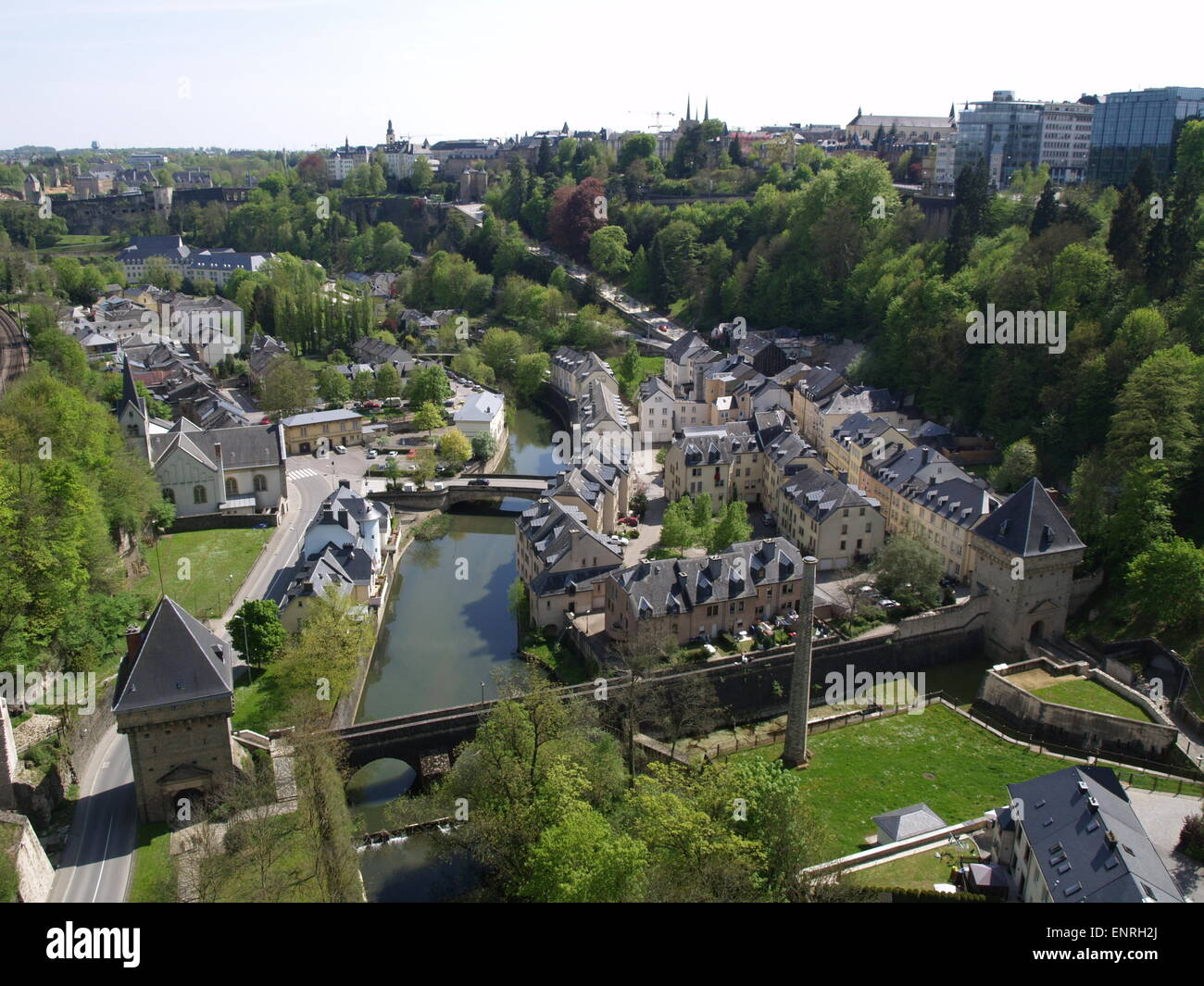 View of Luxembourg city. - Stock Image