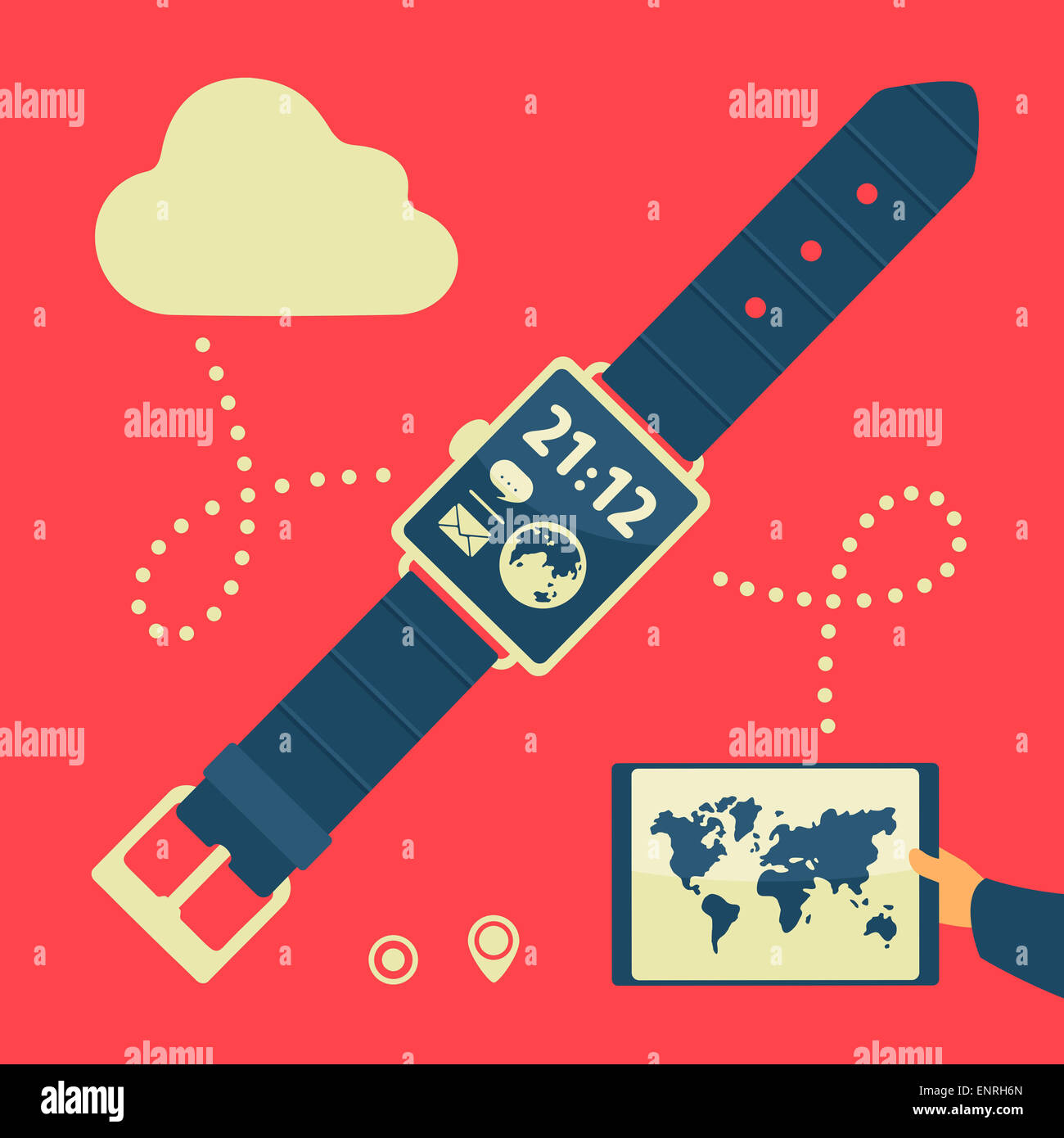 Modern Gadgets And Watches - Stock Image